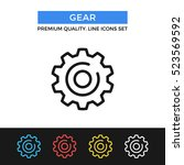 vector gear icon. cogwheel  cog ... | Shutterstock .eps vector #523569592