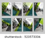 green collection set cover... | Shutterstock .eps vector #523573336