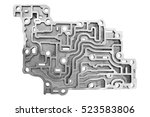 automatic transmission control... | Shutterstock . vector #523583806