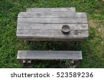 Top View Of Wooden Table With...