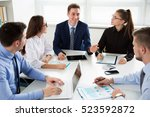 business people having a... | Shutterstock . vector #523592872
