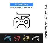 vector gamepad icon. game... | Shutterstock .eps vector #523593568