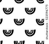 monochrome minimalistic tribal... | Shutterstock .eps vector #523596775