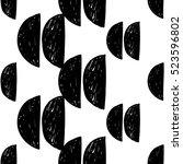 monochrome minimalistic tribal... | Shutterstock .eps vector #523596802