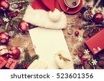 a letter to santa claus ... | Shutterstock . vector #523601356