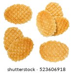 Top view of waffle isolated on...