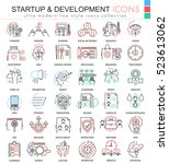 vector startup and development... | Shutterstock .eps vector #523613062