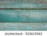 Old Planks Painted In Green...