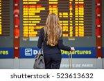 young elegant business woman... | Shutterstock . vector #523613632