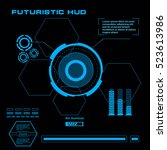 futuristic blue virtual graphic ...