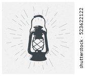 hand drawn vintage kerosene... | Shutterstock .eps vector #523622122