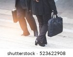 businessman and business woman... | Shutterstock . vector #523622908