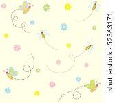 Stock vector seamless vector baby pattern 52363171