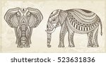 Indian Hand Drawn Elephant....