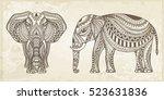 Indian Hand Drawn Elephant....