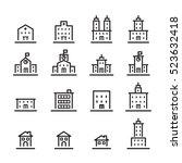 building icon set.line vector. | Shutterstock .eps vector #523632418