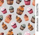 seamless pattern with...   Shutterstock . vector #523632796