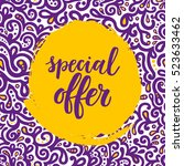 special offer sale poster on... | Shutterstock .eps vector #523633462