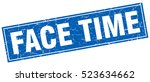 face time. stamp. square grunge ... | Shutterstock .eps vector #523634662