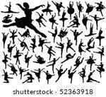 ballerina silhouette vector | Shutterstock .eps vector #52363918