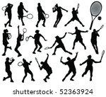 Tennis Silhouette Vector