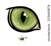 Green Cat's Eye  Isolated On...