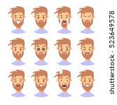 Set Of Male Emoji Characters....