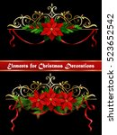 christmas elements for your... | Shutterstock .eps vector #523652542