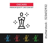 vector academy awards icon.... | Shutterstock .eps vector #523652932