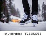 Legs Of Ice Skater With Start...