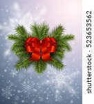 christmas background with... | Shutterstock .eps vector #523653562