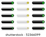 web buttons  black and white... | Shutterstock .eps vector #52366099
