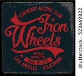 vintage biker graphics and... | Shutterstock .eps vector #523669822