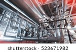 equipment  cables and piping as ... | Shutterstock . vector #523671982