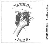 barber shop vector | Shutterstock .eps vector #523679212