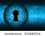 safety concept  closed padlock... | Shutterstock .eps vector #523683316