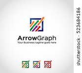 arrow graph logo template | Shutterstock .eps vector #523684186