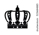crown isolated on white... | Shutterstock .eps vector #523684885