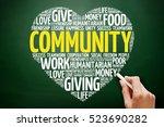 community heart word cloud...   Shutterstock . vector #523690282