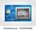 atm   automated teller machine... | Shutterstock .eps vector #523694686