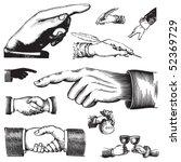 set of vintage hand pointer... | Shutterstock .eps vector #52369729