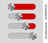 interface slider bar. red...