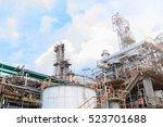 industrial zone  the equipment... | Shutterstock . vector #523701688