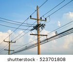 Utility Poles Supporting Wires...