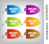sale tag  | Shutterstock .eps vector #523704592