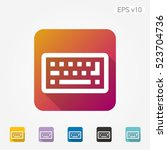 colored icon of keyboard symbol ... | Shutterstock .eps vector #523704736