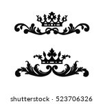 ornate scroll and decorative... | Shutterstock .eps vector #523706326