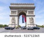 paris  france  on july 10  2016.... | Shutterstock . vector #523712365