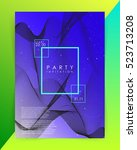 party invitation template.... | Shutterstock .eps vector #523713208