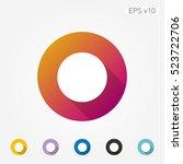 colored icon of circle symbol...